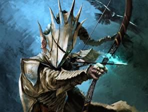 Desktop wallpapers Archers Warrior Armor Fantasy