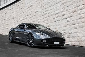 Tapety na pulpit Aston Martin Szara Zagato Vanquish samochód