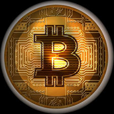 Picture Bitcoin Black background