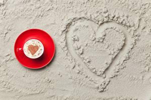 Image Cappuccino Valentine's Day Heart Sand