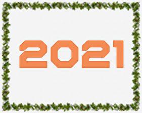 Papel de Parede Desktop Ano-Novo 2021 Galho