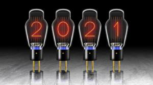 Papel de Parede Desktop Ano-Novo 2021 Lâmpada Bulbo