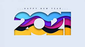 Photo New year 2021 Word - Lettering English