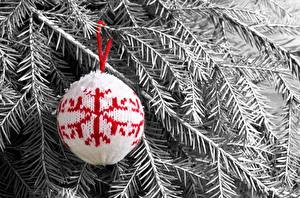 Photo Christmas Balls Branches