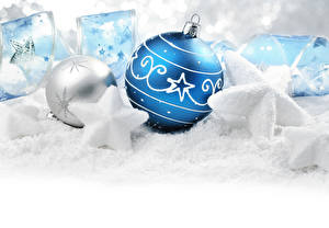 Fondos de escritorio Año Nuevo Bolas Decoración de la estrella Cinta