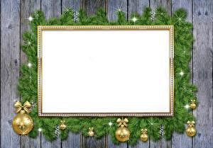 Sfondi desktop Natale Di ramo Palle Tavole Modello biglietto di auguri