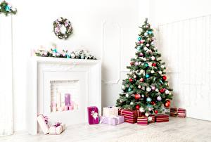 Pictures Christmas New Year tree Balls Gifts
