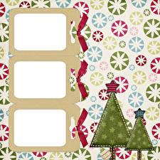 Bilder Neujahr Tannenbaum Kugeln Kleine Sterne Vorlage Grußkarte