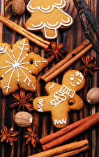 Wallpapers Christmas Cinnamon Star anise Illicium Cookies Walnut