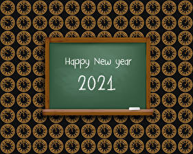 Photo New year Clock face 2021 Word - Lettering English