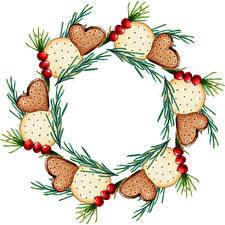 Bilder Neujahr Kekse Beere Ast Vorlage Grußkarte