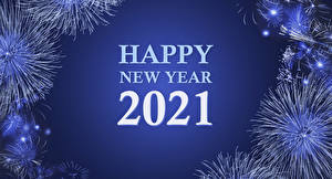 Photo New year Fireworks 2021 Lettering English