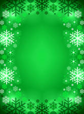 Pictures Christmas Snowflakes Colored background Template greeting card