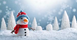 Wallpapers New year Snowmen Snow