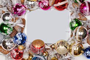 Image Christmas Template greeting card Balls Bowknot