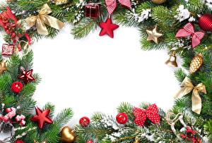Pictures Christmas Template greeting card Branches Star decoration