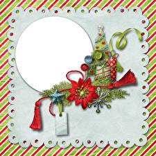 Fondos de escritorio Año Nuevo Tarjeta de felicitación de la plant Árbol de Navidad Cinta Decoración de la estrella