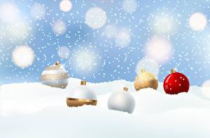 Photo Christmas Vector Graphics Snow Balls Snowflakes