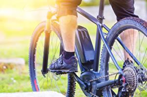 Hintergrundbilder Nahaufnahme Fahrrad Bein