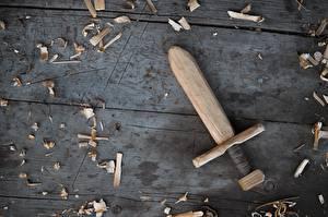 Bilder Hautnah Schwert Aus Holz Bretter