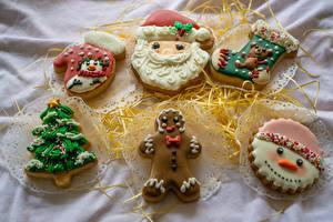 桌面壁纸,,曲奇饼,设计,连指手套,聖誕老人,圣诞树,襪子,雪人,食物
