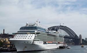 Desktop wallpapers Cruise liner Bridge Berth Australia Sydney Celebrity Solstice Cities