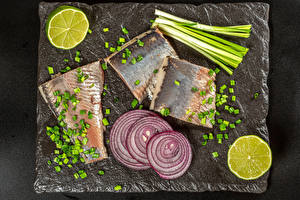 Pictures Fish - Food Onion Lime Scallion Cutting board
