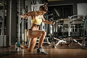 Wallpaper Fitness Gym Physical exercise Legs Girls