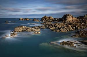 Fotos Frankreich Küste Stein Felsen Bretagne