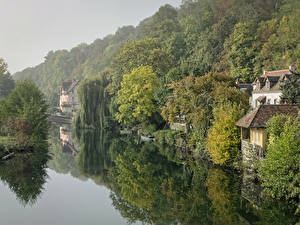 Pictures France Rivers Building Berth Forests Montigny