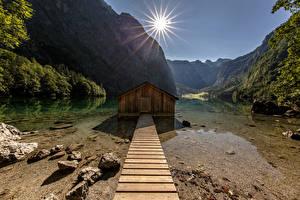 Fotos Deutschland Berg Park Alpen Sonne National Park Berchtesgaden