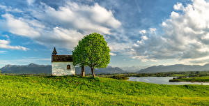 Image Germany Rivers Bavaria Clouds Trees Nature