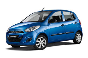 Image Hyundai Blue Metallic White background i10 'FIFA WM', 2011 Cars