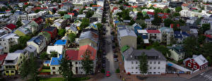 Fotos Island Haus Dach Straße Reykjavik
