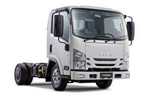 Picture Isuzu Lorry White background NLR 45-150, AU-spec, 2018 --