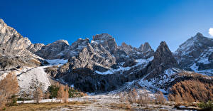 Wallpapers Italy Mountain Panorama Alps Crag Snow Dolomites Nature
