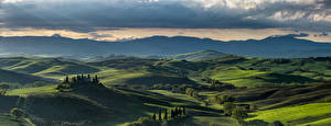 Fotos Italien Gebirge Landschaftsfotografie Toskana Alpen Hügel Wolke
