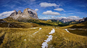 Wallpaper Italy Mountains Sky Scenery Alps Clouds Cliff Dolomites Nature