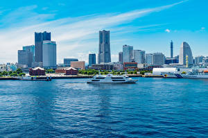 Pictures Japan Houses Ships Bay Yokohama, Minatomirai Station Cities