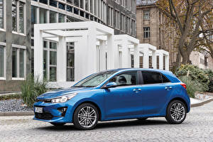 Wallpapers KIA Blue Metallic Side Rio Worldwide, (YB), 2020 Cars