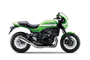 Images Kawasaki Green Side White background Z900RS Cafe, 2018