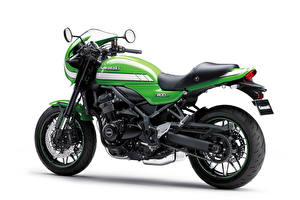 Images Kawasaki Green White background Z900RS Cafe, 2018
