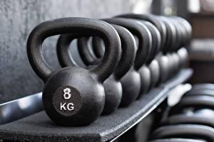 Sfondi desktop Molti Kettlebell Bokeh 8 kg sportivo