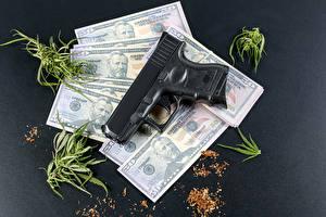 Fondos de escritorio Dinero Dólar Billete Pistola
