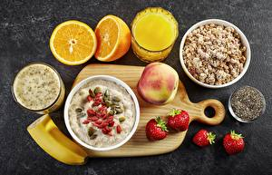 Picture Oatmeal Juice Porridge Fruit Breakfast
