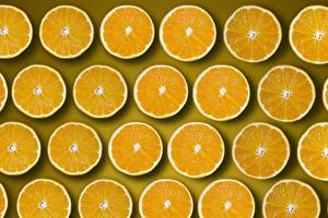 Wallpaper Orange fruit Many Texture Circles Pieces Orange Food