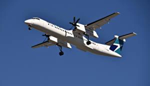 Hintergrundbilder Flugzeuge Verkehrsflugzeug Bombardier, Q400, WestJet Airlines