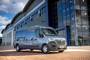 Tapety na pulpit Renault Szary Metaliczna Van 2019-20 Master L3H2 Van samochód
