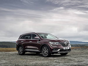 Desktop wallpapers Renault Crossover Wine color 2019 Koleos Cars