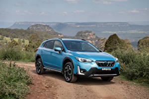 Pictures Subaru CUV Light Blue Metallic Hybrid vehicle XV Hybrid, AU-spec, 2020 automobile